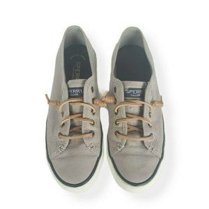 Sperry Top Sider Shoes 7.5M Womens Gray Casual